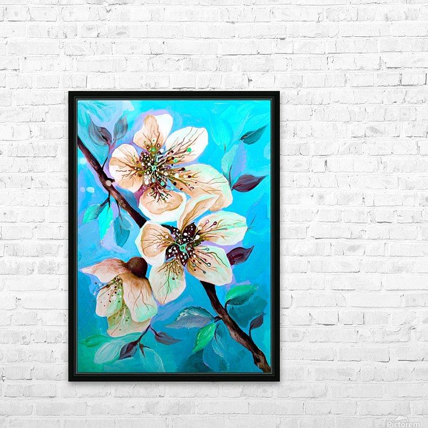 Japanese Sakura Cherry Blossom  HD Sublimation Metal print with Decorating Float Frame (BOX)