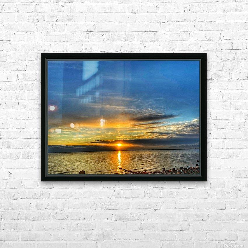 Ocean Sunsets HD sublimation métal imprimé avec décoration flotteur cadre (boîte)