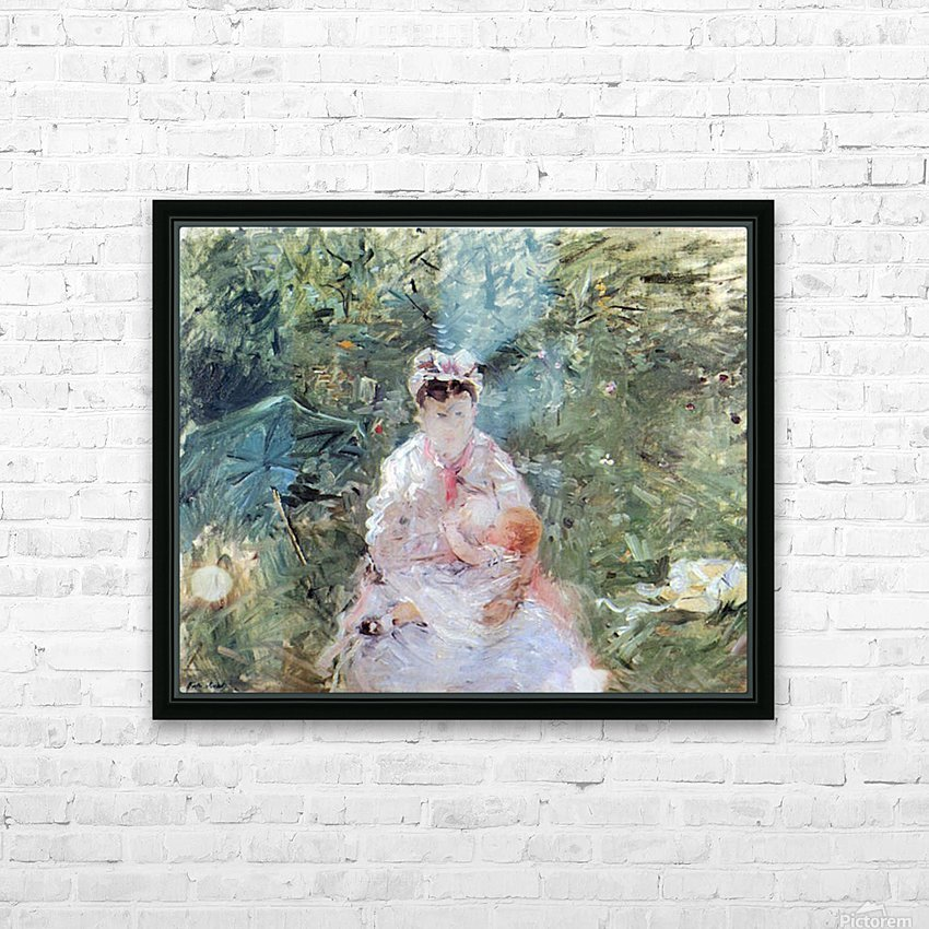 Julie Manet by Morisot HD Sublimation Metal print with Decorating Float Frame (BOX)