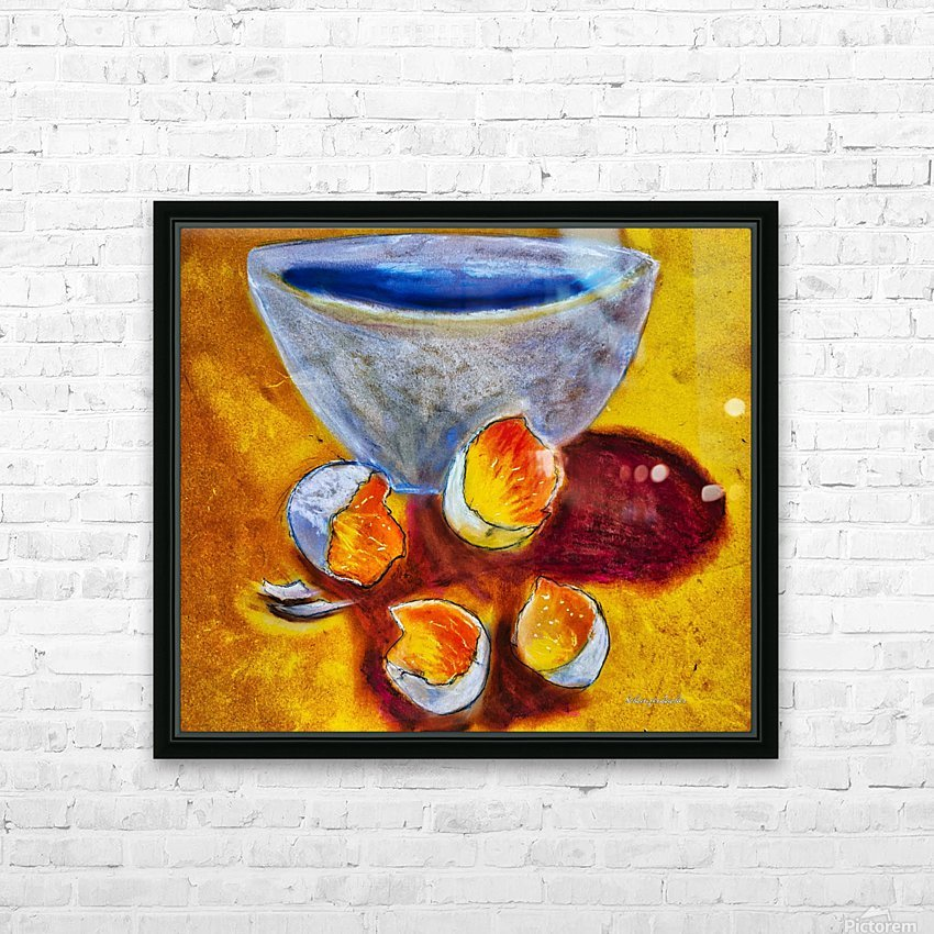 Eggs and a bowl HD Sublimation Metal print with Decorating Float Frame (BOX)