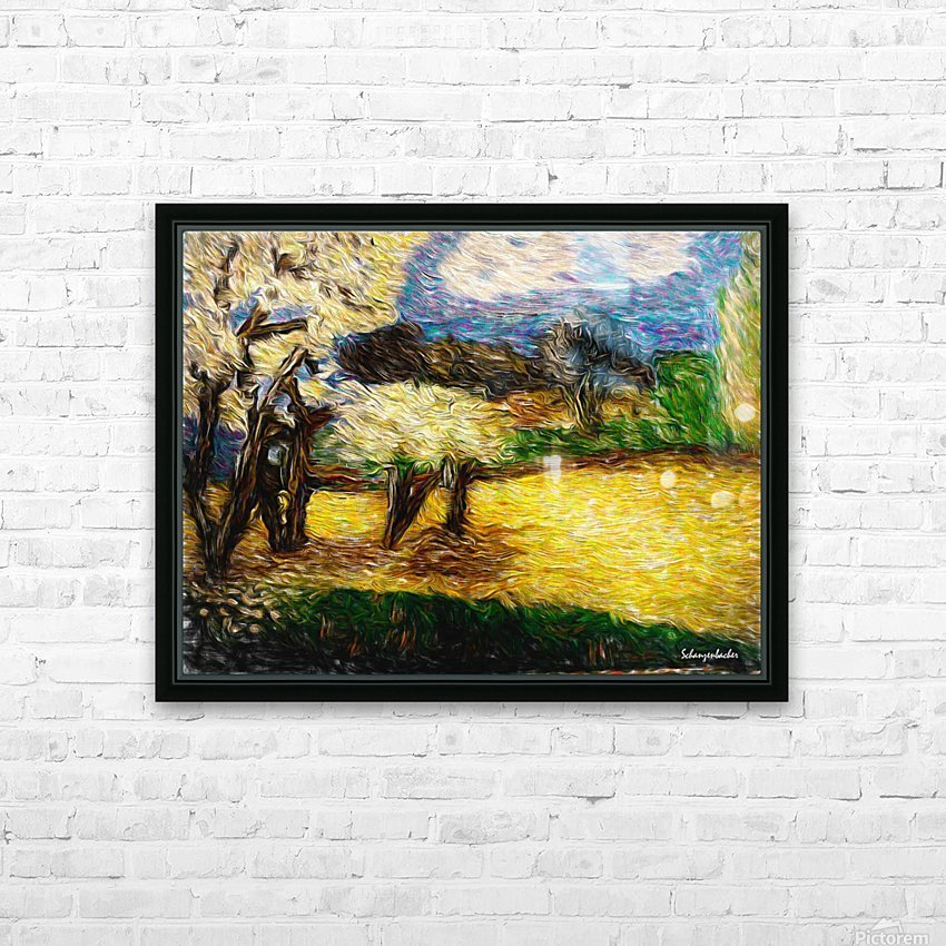 Yellow Summer Fields HD Sublimation Metal print with Decorating Float Frame (BOX)
