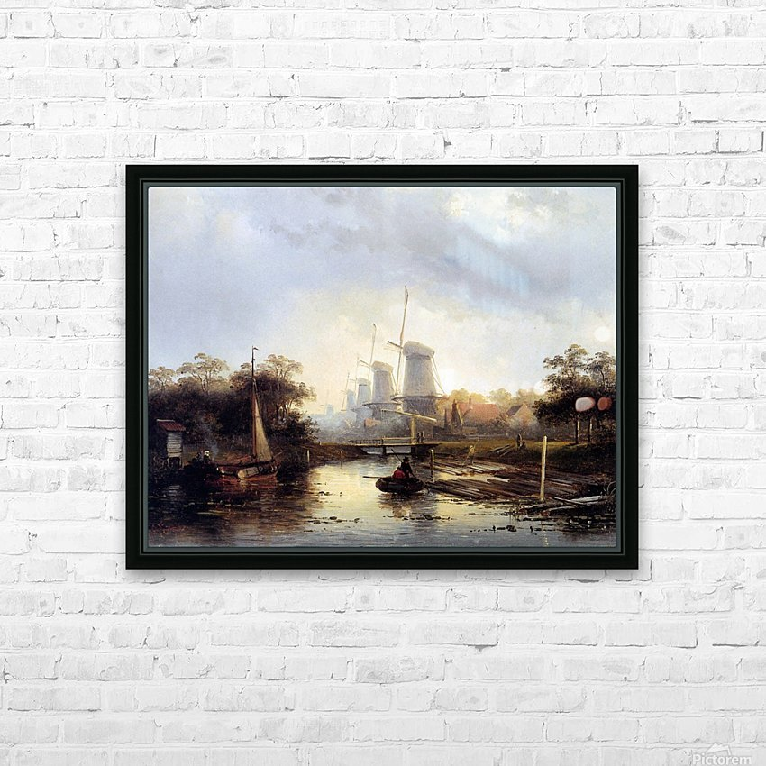 Summerlandscape with mills Sun HD Sublimation Metal print with Decorating Float Frame (BOX)
