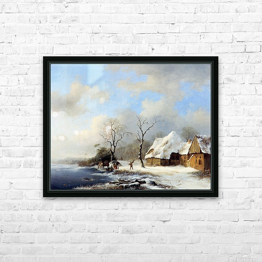 Winterlandscape Sun HD Sublimation Metal print with Decorating Float Frame (BOX)