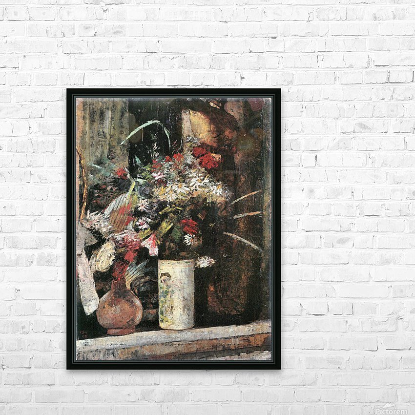 Blooms by Lesser Ury HD Sublimation Metal print with Decorating Float Frame (BOX)