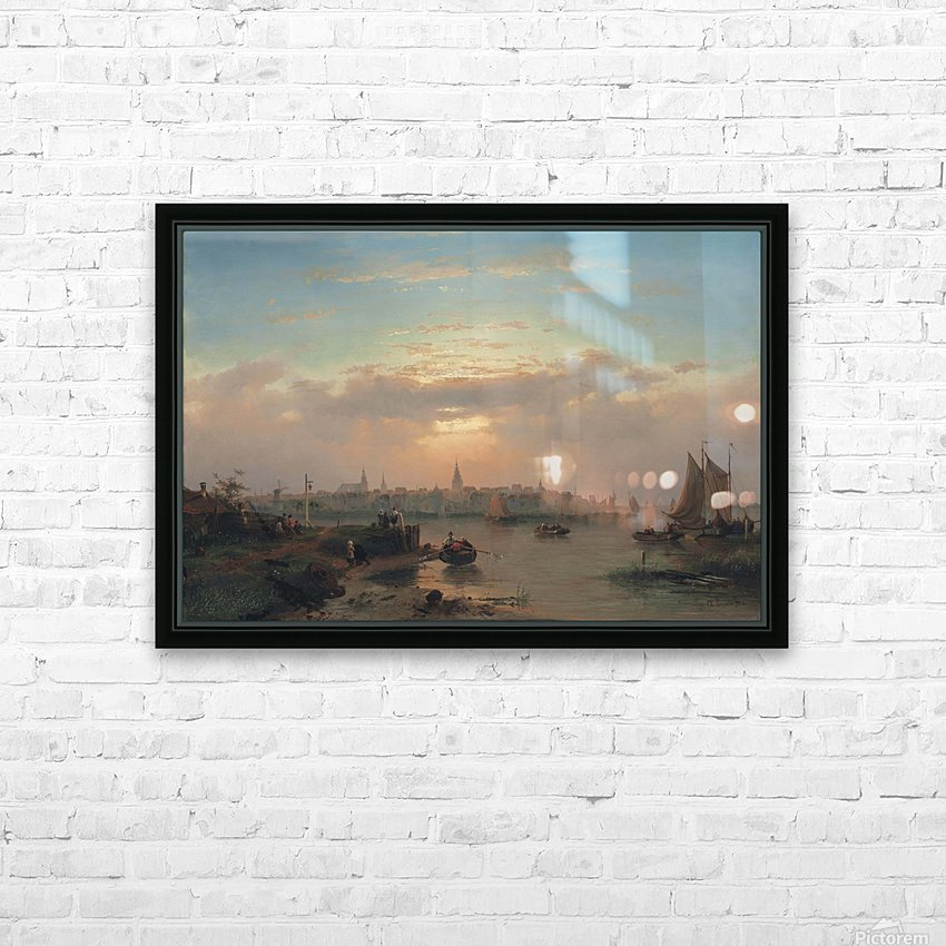 Evening on the Scheldt, Holland HD Sublimation Metal print with Decorating Float Frame (BOX)