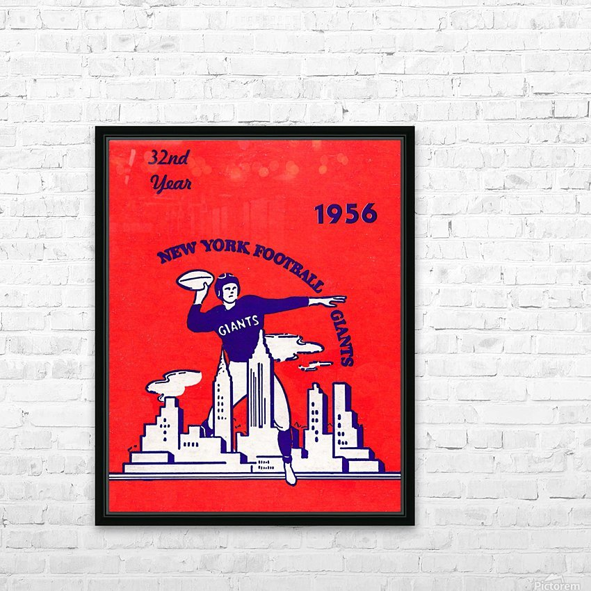 1956 new york giants vintage nfl poster HD Sublimation Metal print with Decorating Float Frame (BOX)