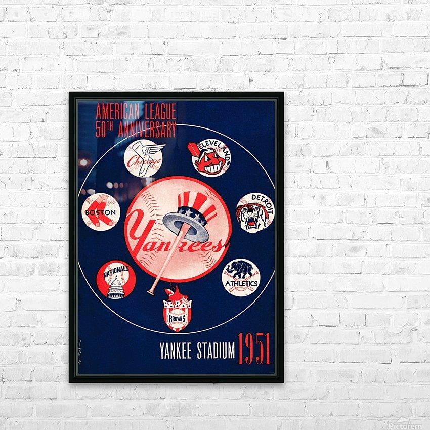 1951 new york yankees logo lon keller art HD Sublimation Metal print with Decorating Float Frame (BOX)