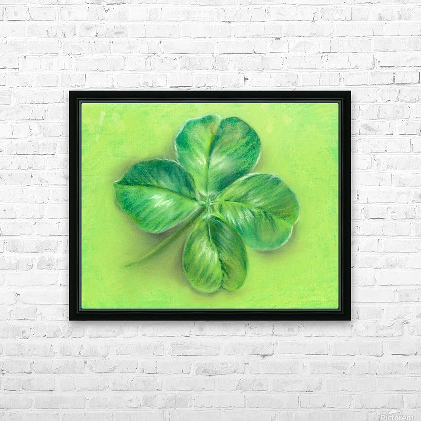 Lucky Four Leaf Clover HD Sublimation Metal print with Decorating Float Frame (BOX)
