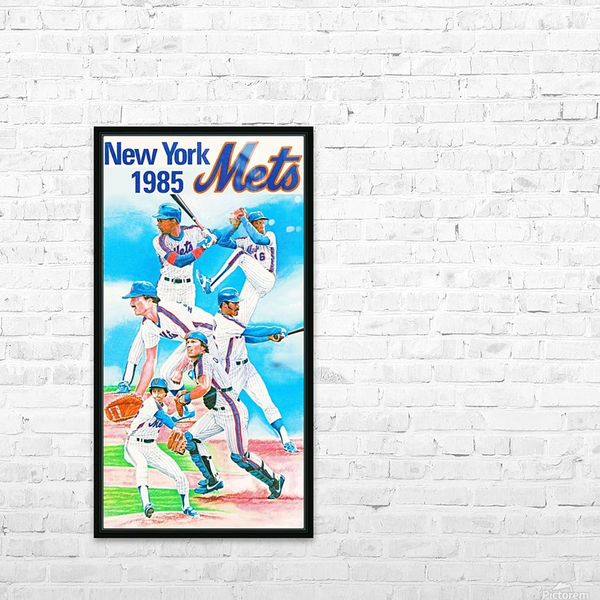 1985 new york mets baseball poster HD Sublimation Metal print with Decorating Float Frame (BOX)