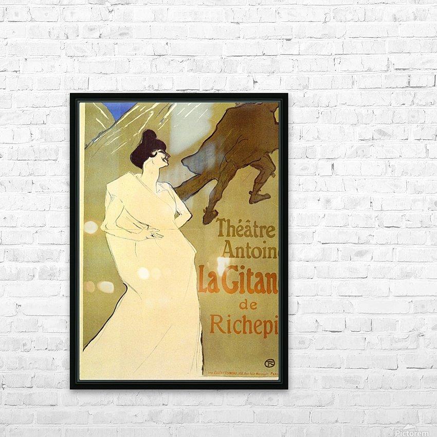 La Gitane de Rechepin by Toulouse-Lautrec HD Sublimation Metal print with Decorating Float Frame (BOX)