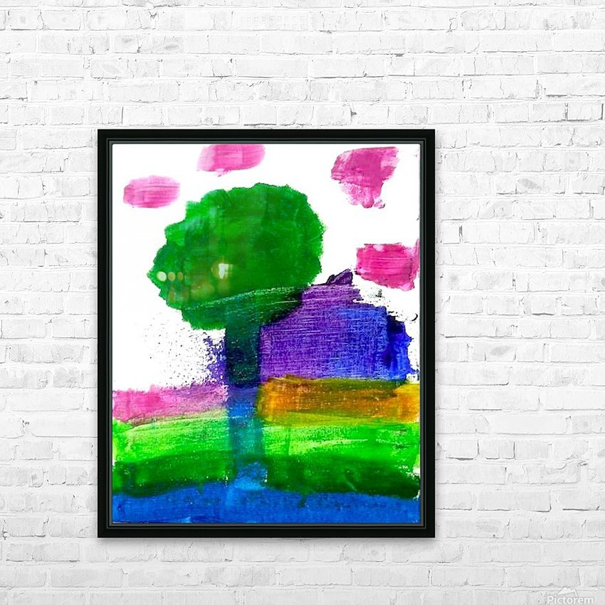 Myona tree HD Sublimation Metal print with Decorating Float Frame (BOX)