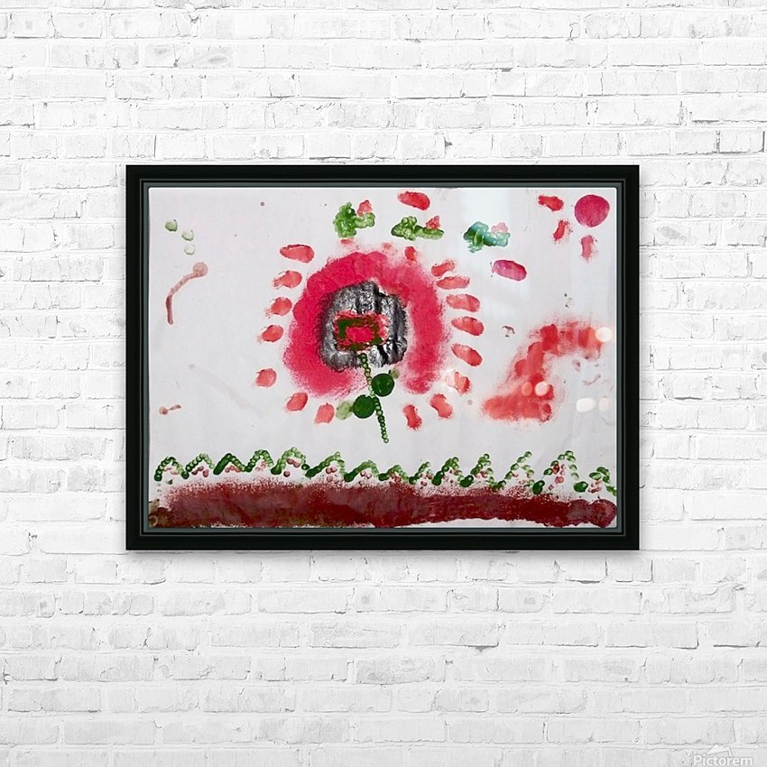 Myona red flower HD Sublimation Metal print with Decorating Float Frame (BOX)