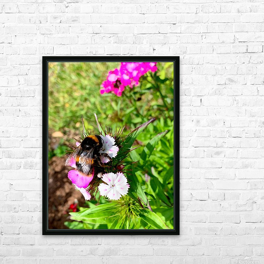 Bumblebee  HD Sublimation Metal print with Decorating Float Frame (BOX)