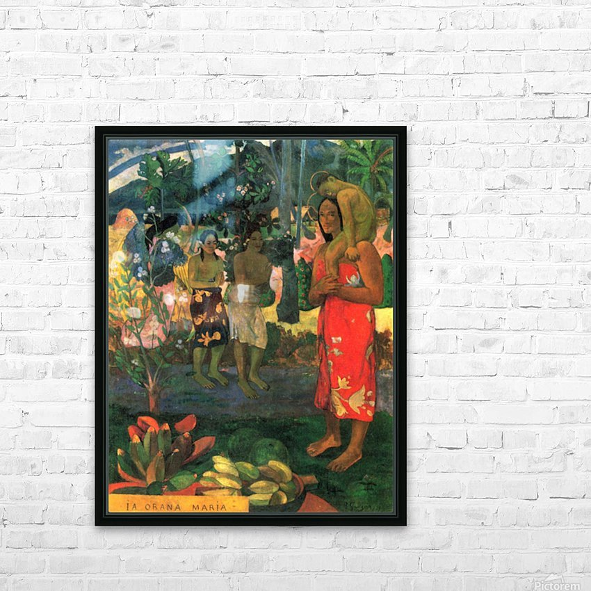 La Orana by Gauguin HD Sublimation Metal print with Decorating Float Frame (BOX)