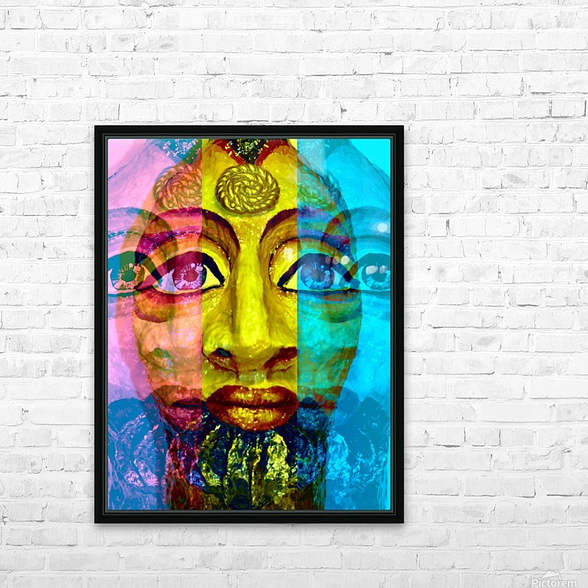Ancient Egyptian Goddess  HD Sublimation Metal print with Decorating Float Frame (BOX)
