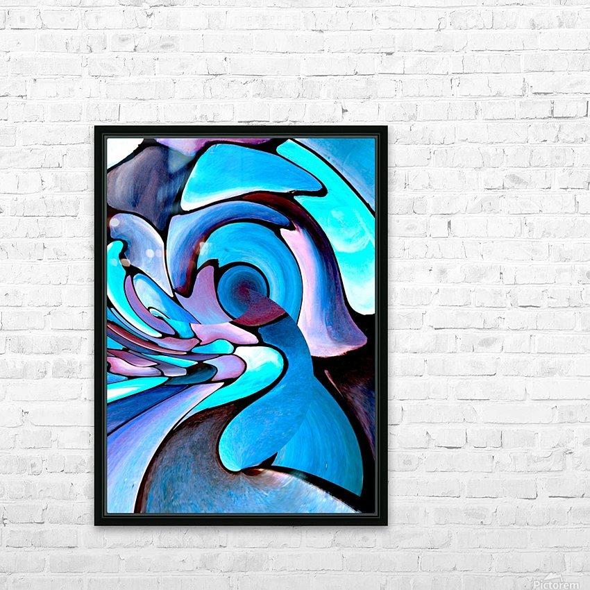 Art Deco_Green _Pattern_Aqua_Black HD Sublimation Metal print with Decorating Float Frame (BOX)