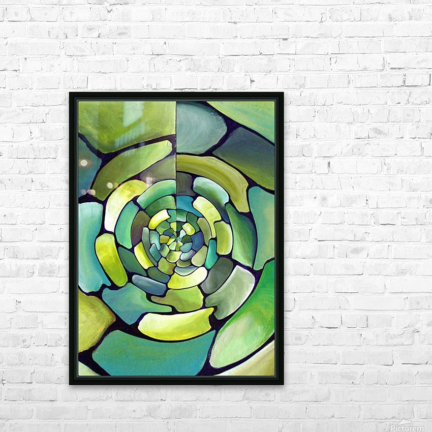 Art Deco_Green _Pattern_displate HD Sublimation Metal print with Decorating Float Frame (BOX)