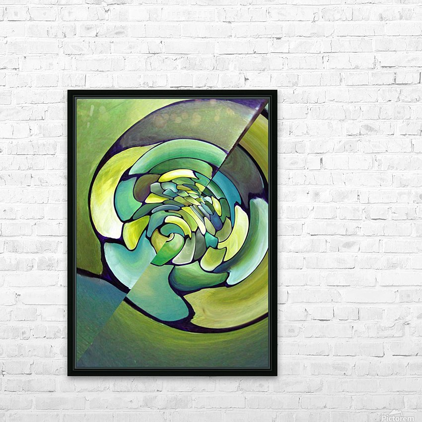 Art Deco_Green _Pattern_A HD Sublimation Metal print with Decorating Float Frame (BOX)