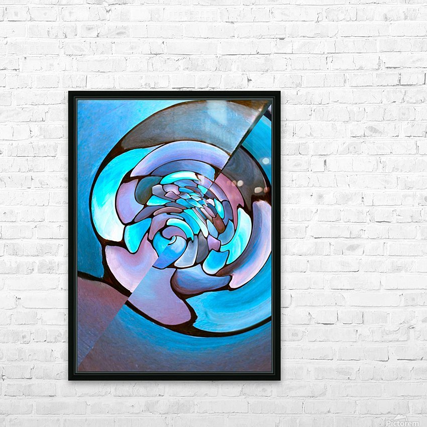Art Deco_Green _Pattern_Aqua HD Sublimation Metal print with Decorating Float Frame (BOX)