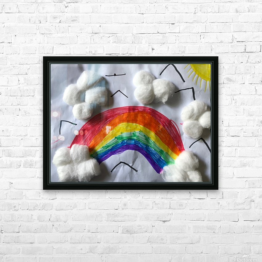 Nola rainbow HD Sublimation Metal print with Decorating Float Frame (BOX)