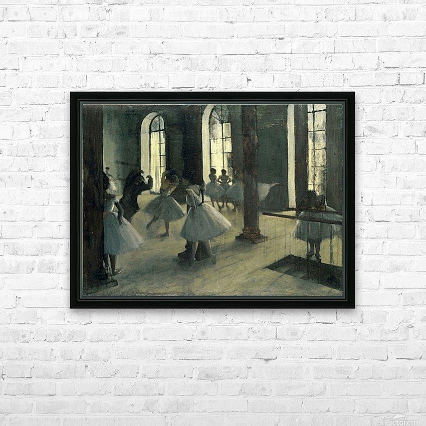 La Repetition au foyer de la danse by Degas HD Sublimation Metal print with Decorating Float Frame (BOX)