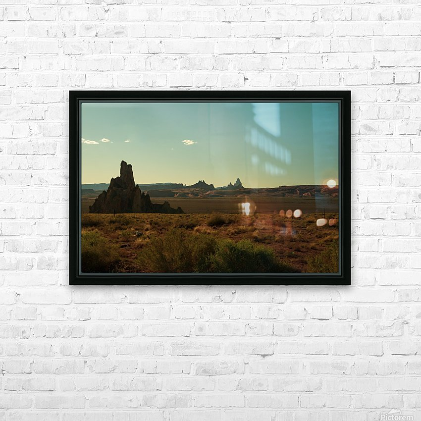 Desert Scene Sunset HD Sublimation Metal print with Decorating Float Frame (BOX)
