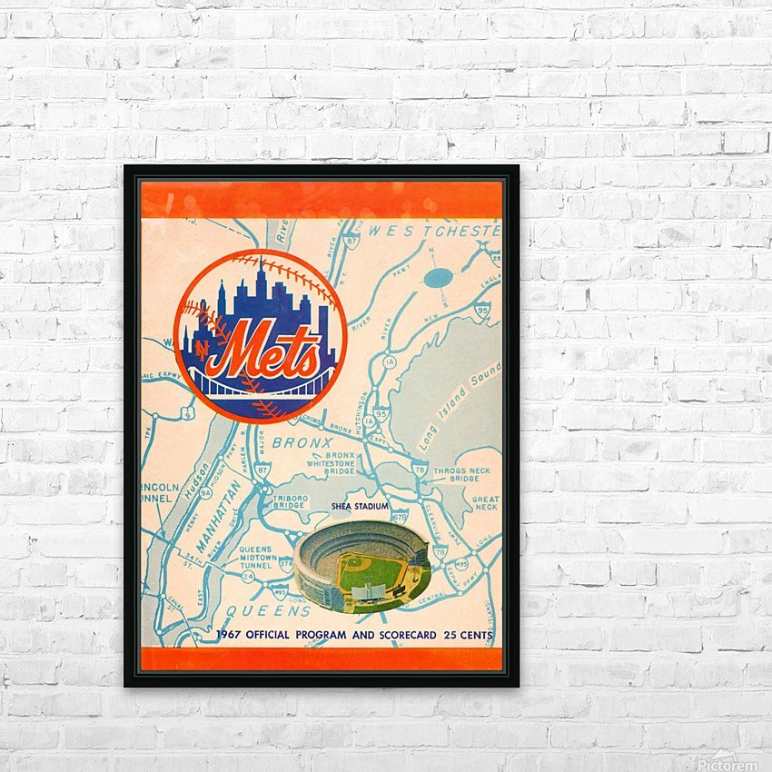 1967 new york mets vintage baseball scorecard poster wall art HD Sublimation Metal print with Decorating Float Frame (BOX)