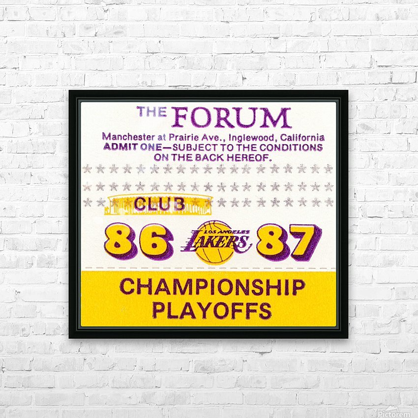 the forum inglewood california lakers gift ideas HD Sublimation Metal print with Decorating Float Frame (BOX)