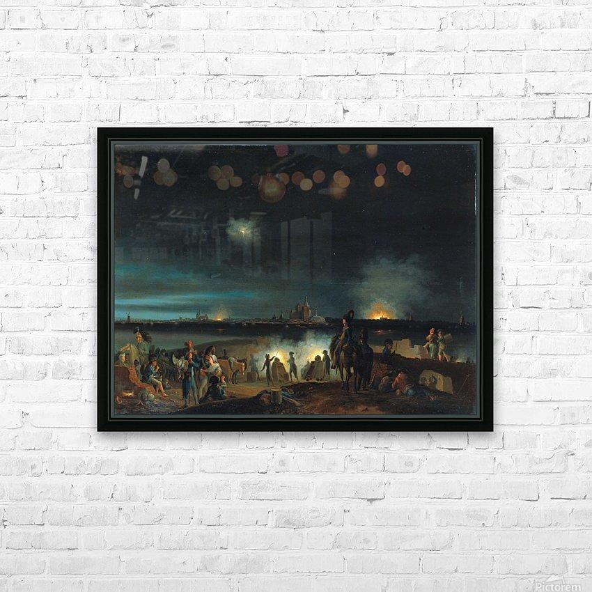 De beschieting van's Hertogenbosch door de Fransen tijdens het beleg van 1794 HD Sublimation Metal print with Decorating Float Frame (BOX)