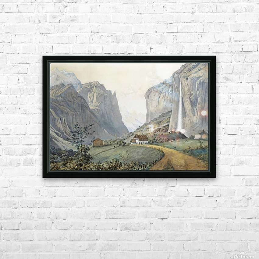The Staubbach Falls by Lauterbrunnen in the Swiss Alps HD Sublimation Metal print with Decorating Float Frame (BOX)