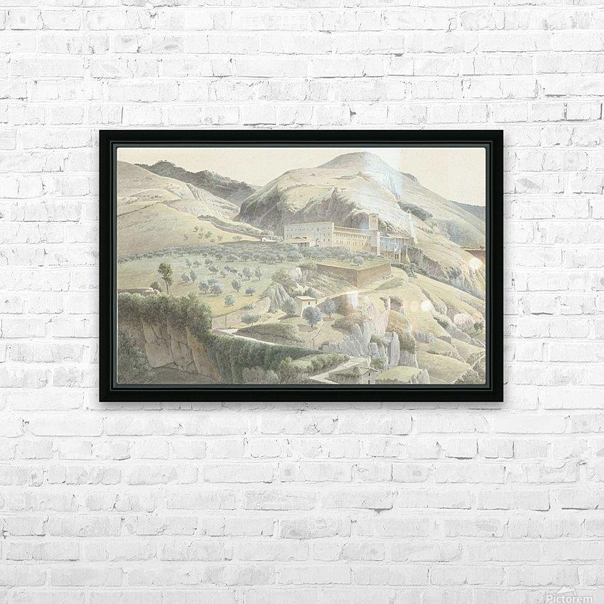 Landschap met klooster bij Subiaco HD Sublimation Metal print with Decorating Float Frame (BOX)