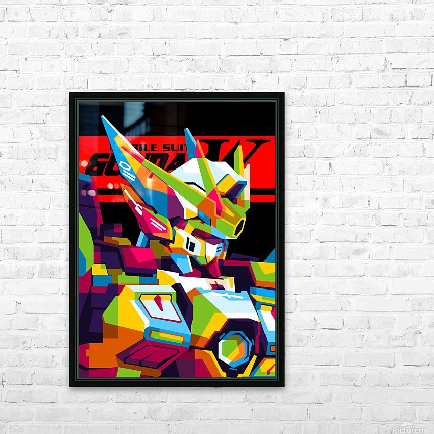 Wings Gundam Zero Pop Art HD Sublimation Metal print with Decorating Float Frame (BOX)