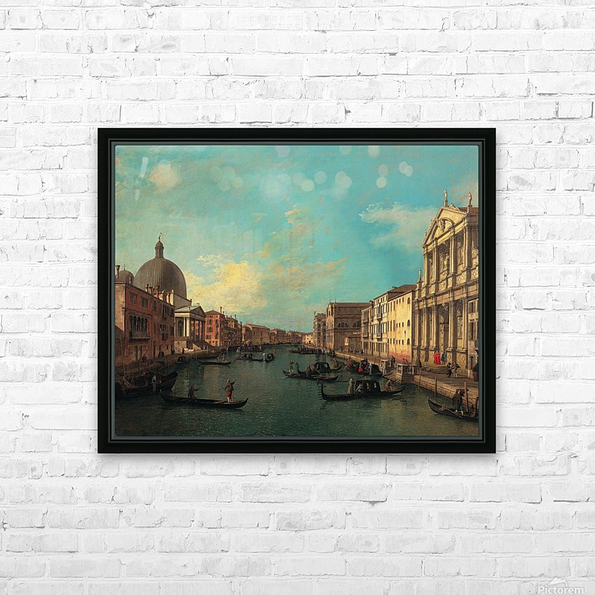 Venezia with figures along the canal HD Sublimation Metal print with Decorating Float Frame (BOX)
