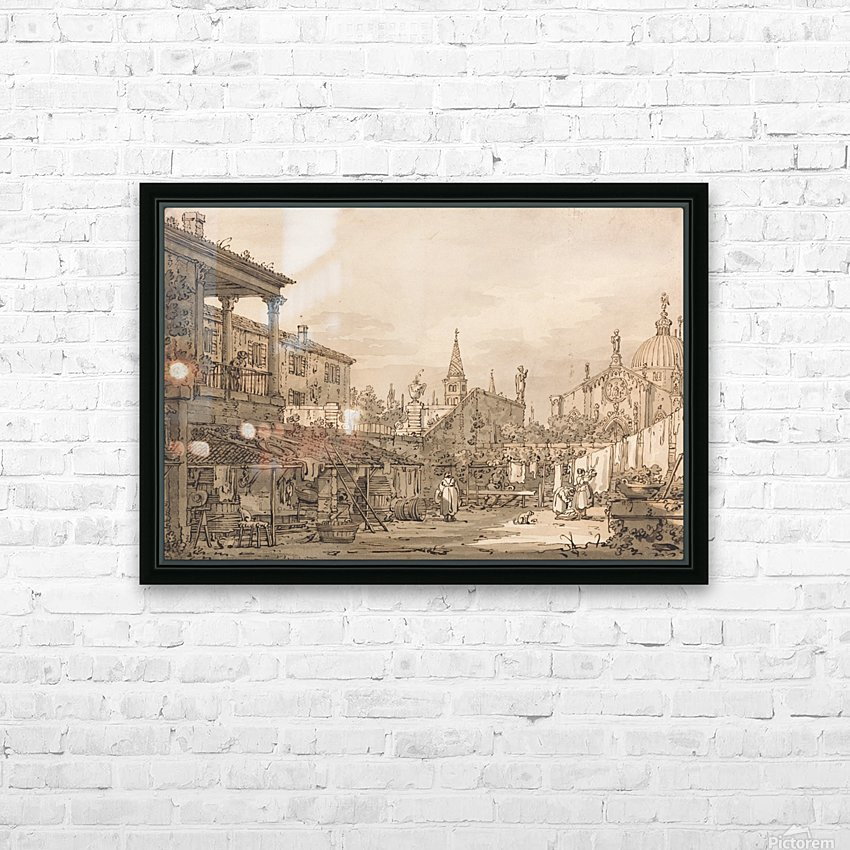 Capriccio of a Venetian Courtyard HD Sublimation Metal print with Decorating Float Frame (BOX)