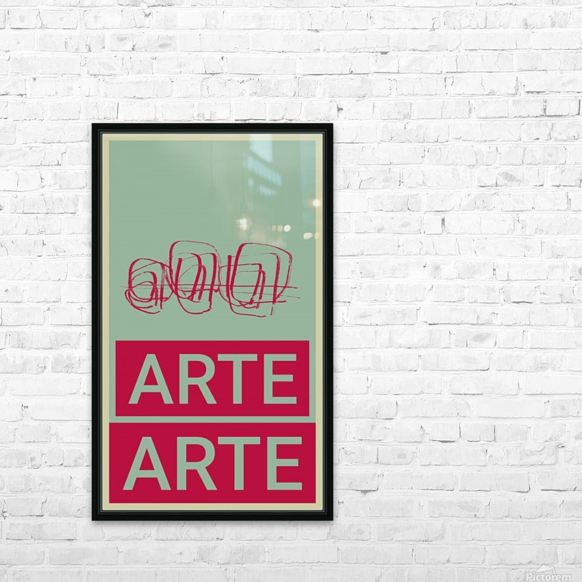 ARTE -4  HD Sublimation Metal print with Decorating Float Frame (BOX)