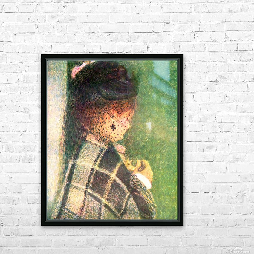 Lady with veil by Renoir HD Sublimation Metal print with Decorating Float Frame (BOX)