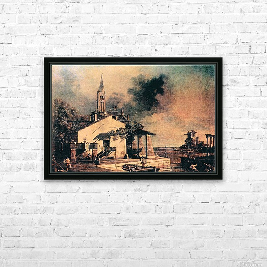 Lagoon landscape by Canaletto HD Sublimation Metal print with Decorating Float Frame (BOX)