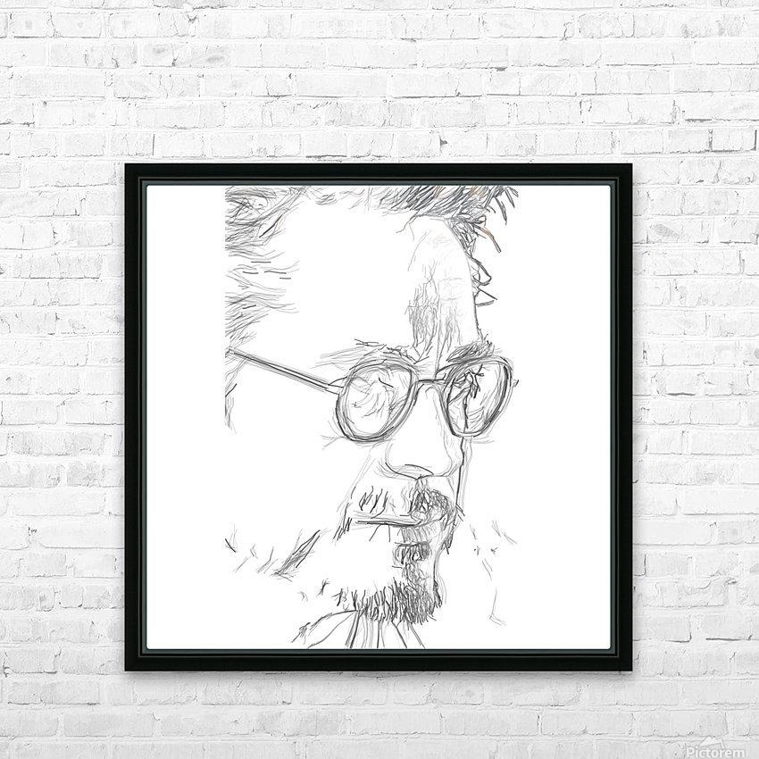 Robert Downy Jr. - Celebrity Pencil Art HD sublimation métal imprimé avec décoration flotteur cadre (boîte)