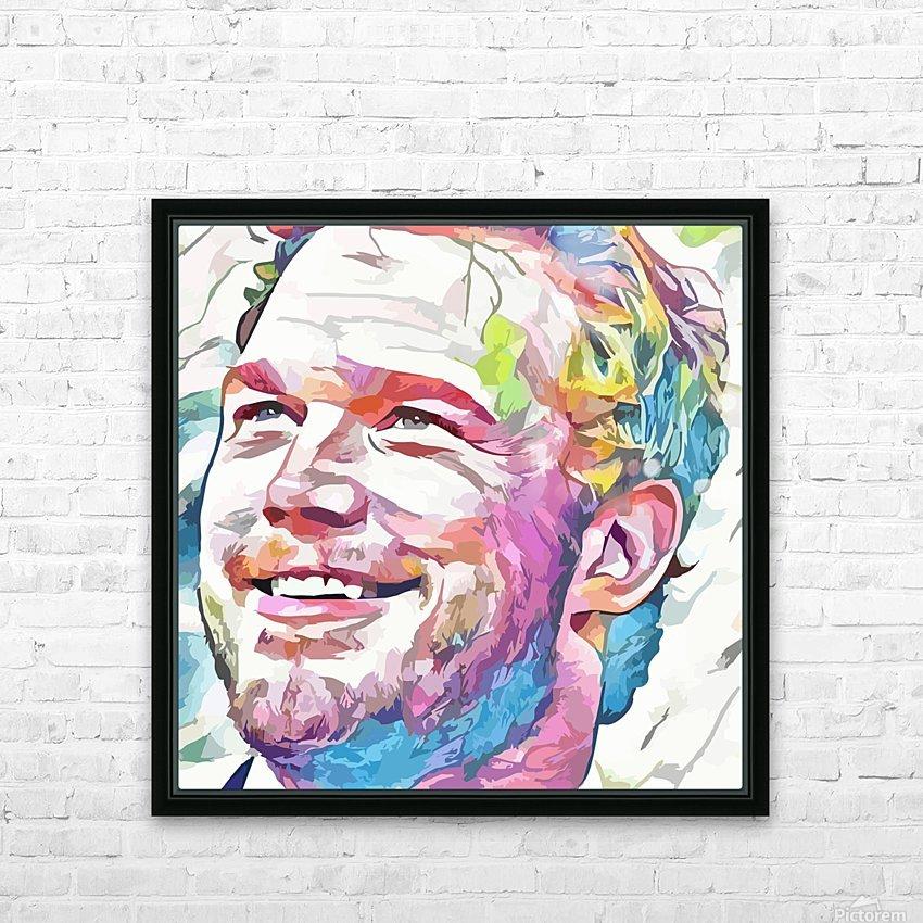 Chris Pratt - Celebrity Abstract Art HD sublimation métal imprimé avec décoration flotteur cadre (boîte)