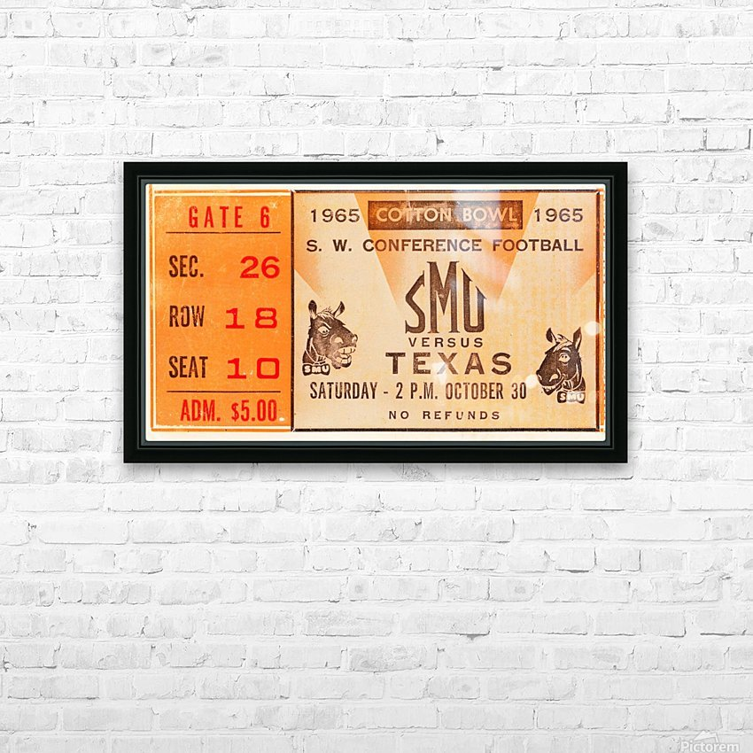1965 texas longhorns smu mustangs college football HD Sublimation Metal print with Decorating Float Frame (BOX)