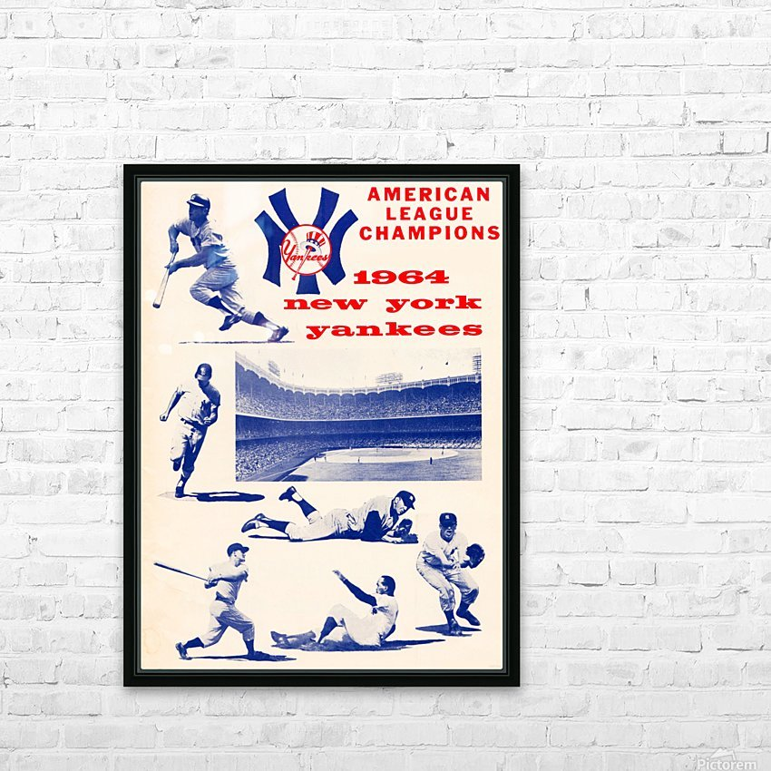 1964 new york yankees american league champions poster HD Sublimation Metal print with Decorating Float Frame (BOX)