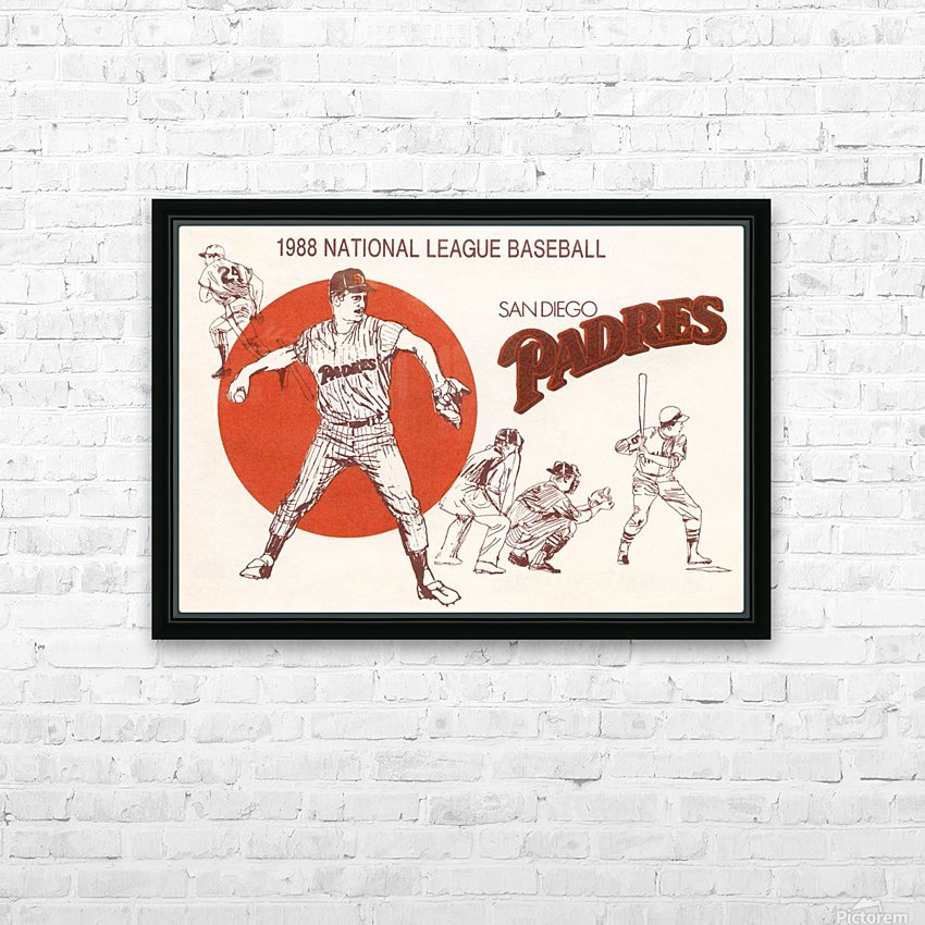 1988 san diego padres vintage poster HD Sublimation Metal print with Decorating Float Frame (BOX)