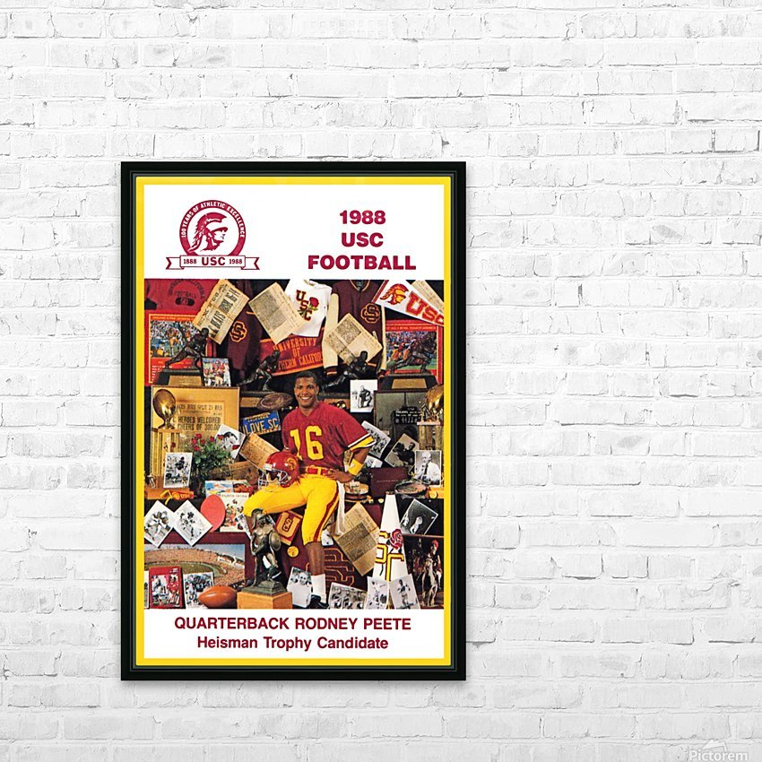 1988 usc football poster heisman candidate rodney peete HD Sublimation Metal print with Decorating Float Frame (BOX)