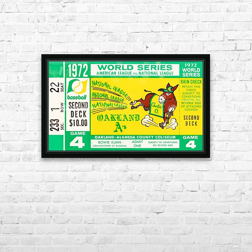 1972 world series oakland athletics HD Sublimation Metal print with Decorating Float Frame (BOX)