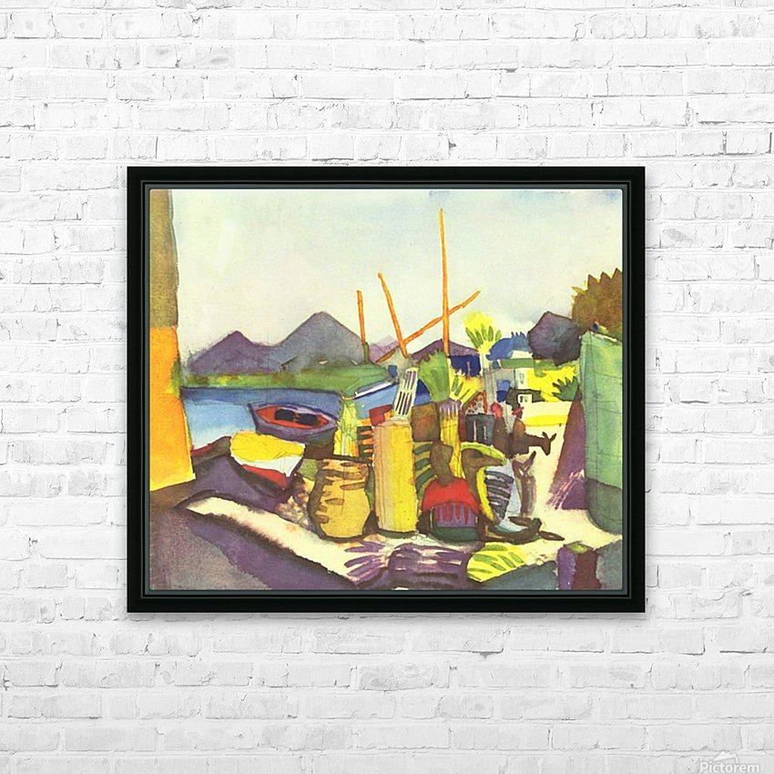 Landscape at Hammamet by Macke HD Sublimation Metal print with Decorating Float Frame (BOX)