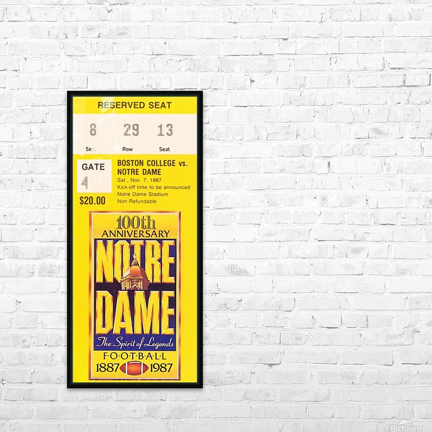 1987 notre dame football HD Sublimation Metal print with Decorating Float Frame (BOX)