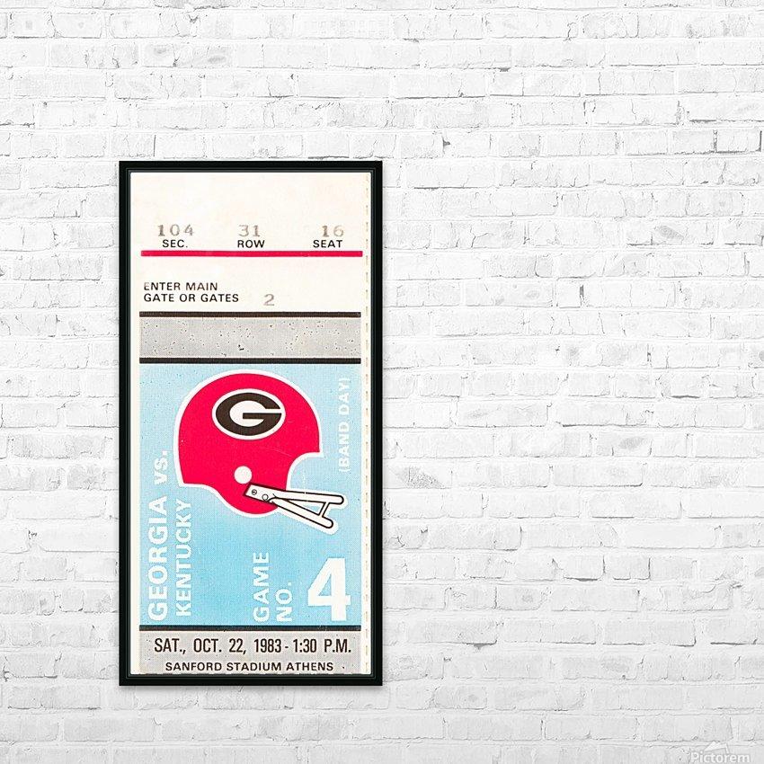 1983 georgia bulldogs kentucky wildcats sanford stadium athens ga HD Sublimation Metal print with Decorating Float Frame (BOX)