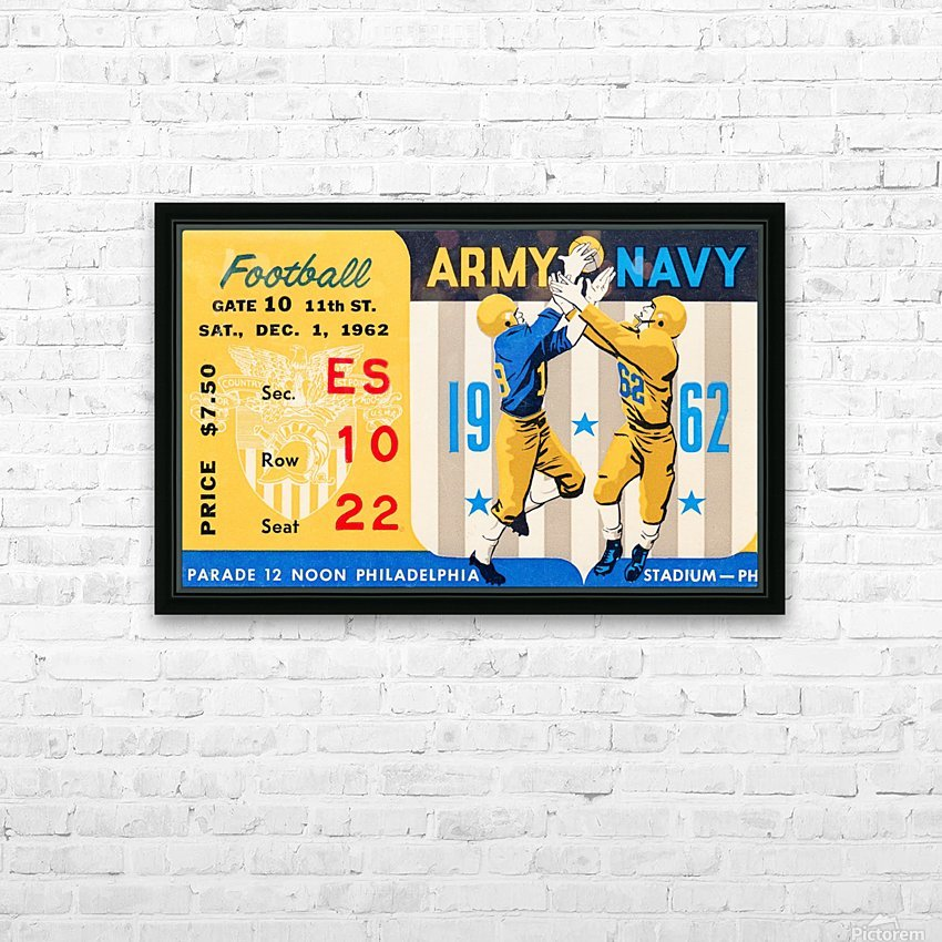 1962_Vintage College Football_Army vs. Navy_Municipal Stadium_ HD Sublimation Metal print with Decorating Float Frame (BOX)