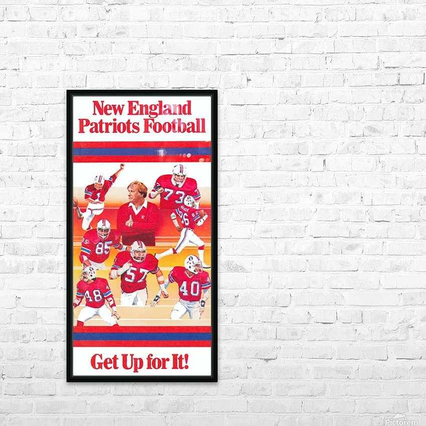 1981 new england patriots vintage nfl poster HD Sublimation Metal print with Decorating Float Frame (BOX)