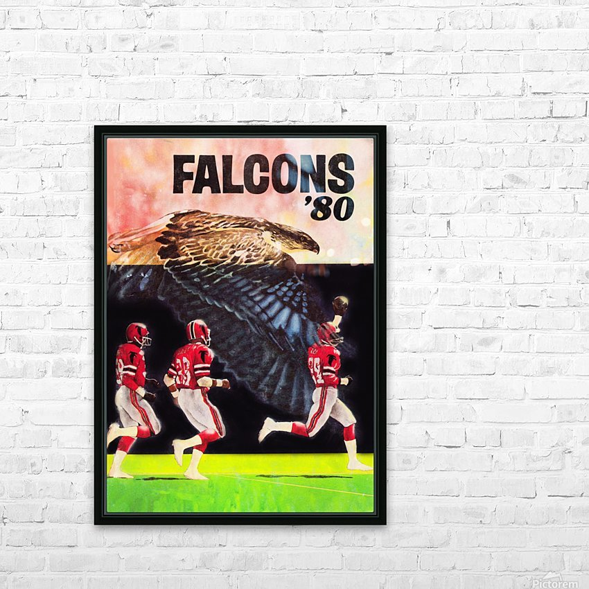 1980 retro nfl atlanta falcons poster HD Sublimation Metal print with Decorating Float Frame (BOX)